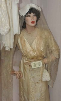 A bridal gown in our museum