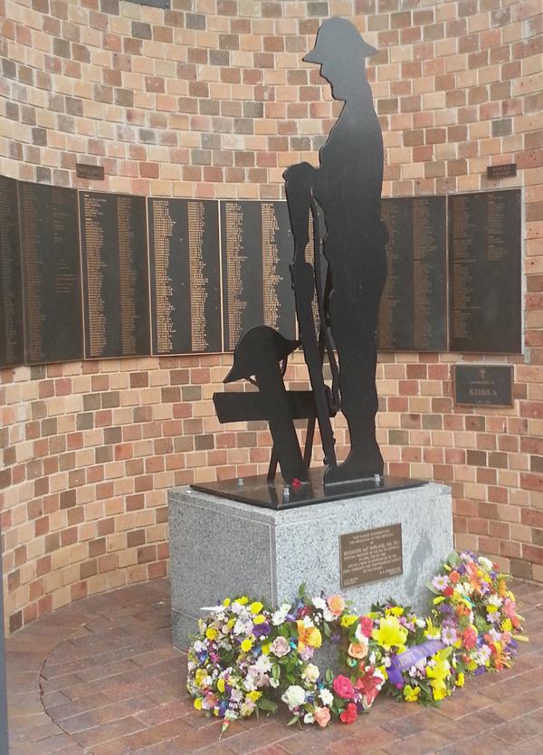 The memorial outside the RSL Hall, Moruya