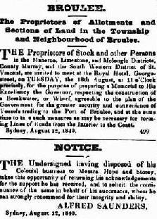 Sydney Gazette, 15 August, 1830