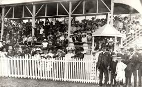 The grandstand at the then Moruya Racetrack.