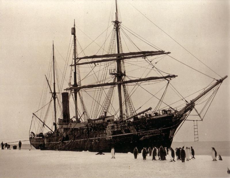 Mawson's ship. The Aurora