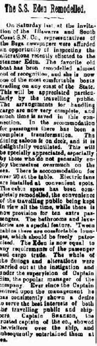 From The Bega Budget Wednesday 17 June, 1916
