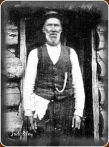 John Riley at his mountain hut