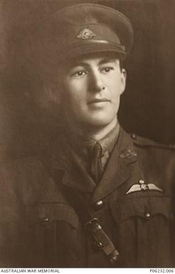 LT James Stuart Leslie Ross 589 Australian Flying Corps A.I.F. – Photo courtesy of AWM