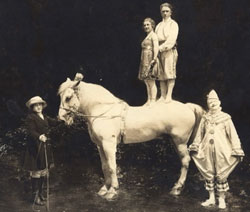 Elsie May St Leon in 1918. She was part of the family circus