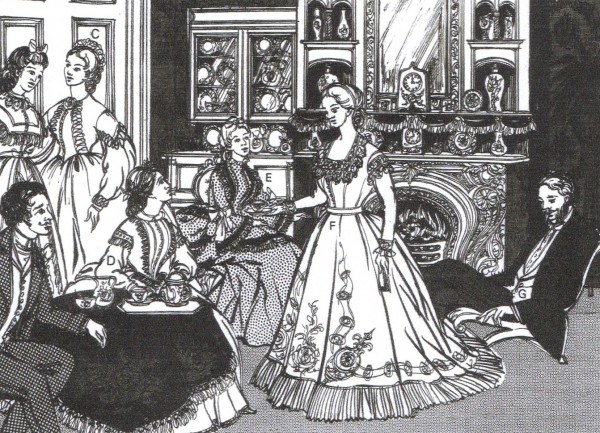A typical parlour at the time that Ann Howdon