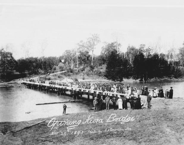 The opening of the Kiora Bridge in 1890