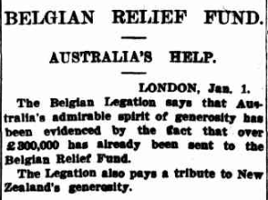 Sydney Morning Herald, 4 January , 1915