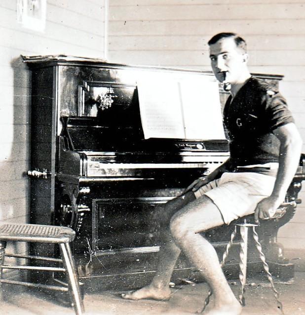 David enjoyed playing the piano