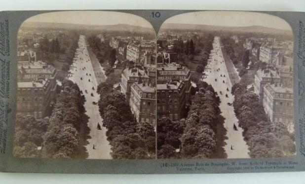 Stereogram of the Bois de Boulogne, Paris - MDHS Collection