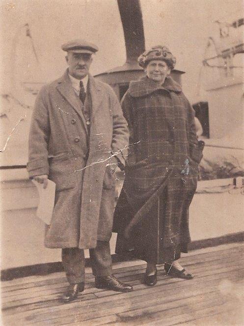 George and Caroline Holmes on a world honeymoon cruise 1906